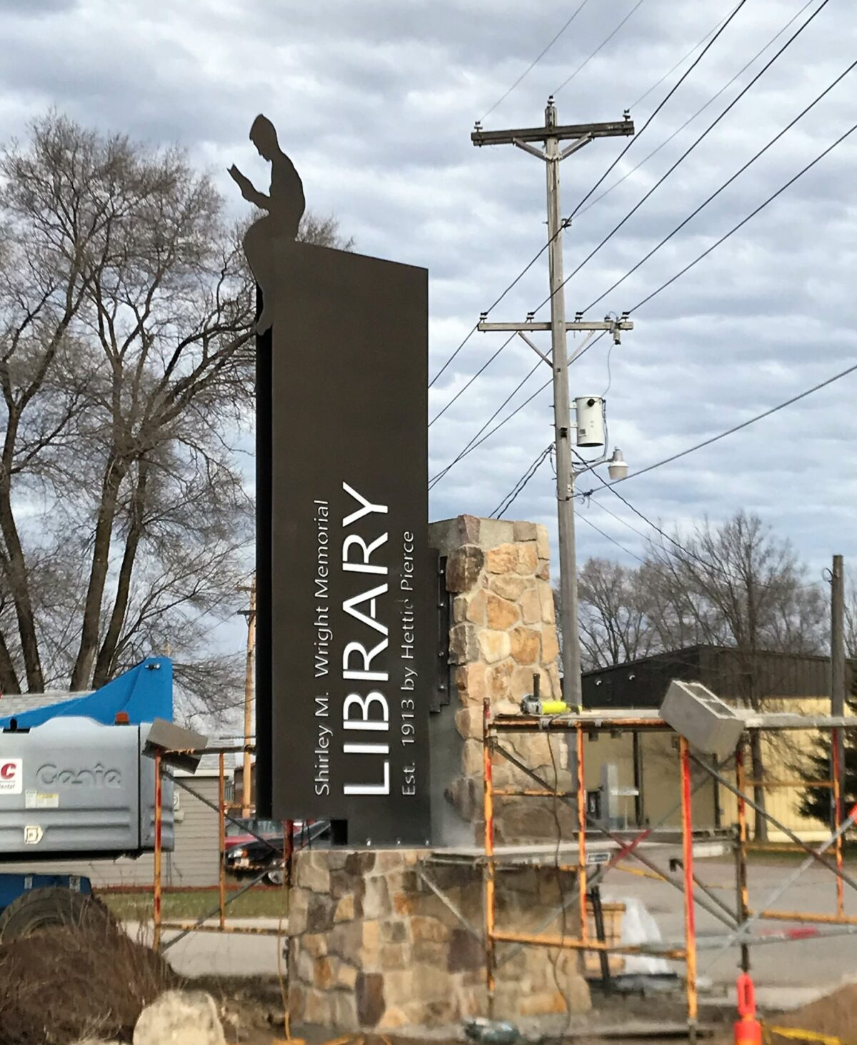 Trempealeau Library Sign-Masonry